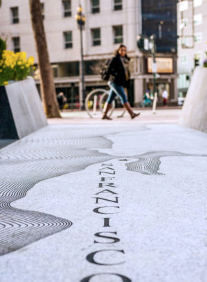 Topher Delaney designed Public Art Plaza at NEMA San Francisco